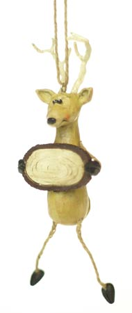 Deer with Sign Ornament | BAC80