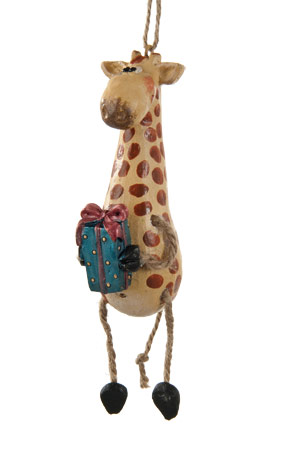 Giraffe with Gift Ornament